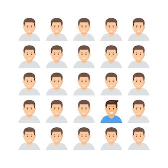 Denken sie an verschiedene profile