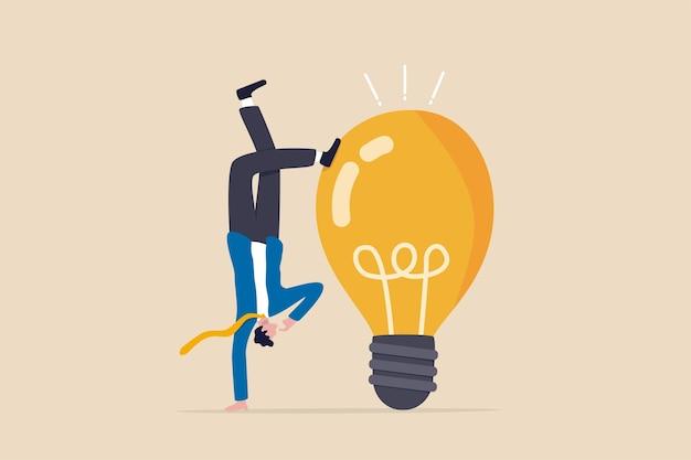 Denken sie anders, um eine einzigartige idee zu entwickeln, versuchen sie eine andere lösung, um das geschäftsproblem zu lösen