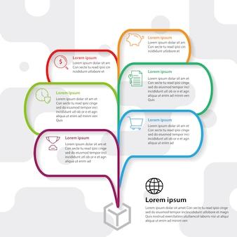Denkende idee der infographic-schablone explodieren