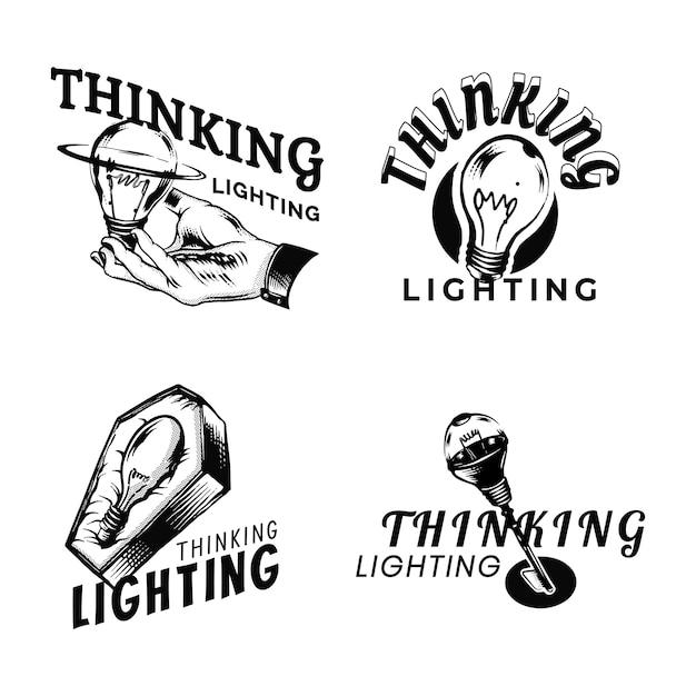 Denkende logo-sammlung