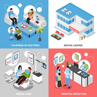Dental center isometric
