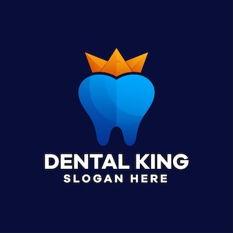 Dental king gradient logo-design