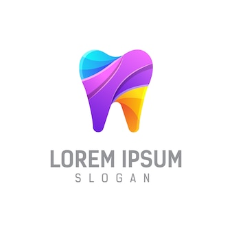 Dental logo design vorlage illustration