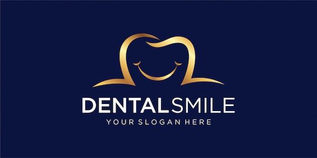 Dental-logo mit dem konzept eines lächelns
