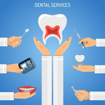 Dental services-konzept