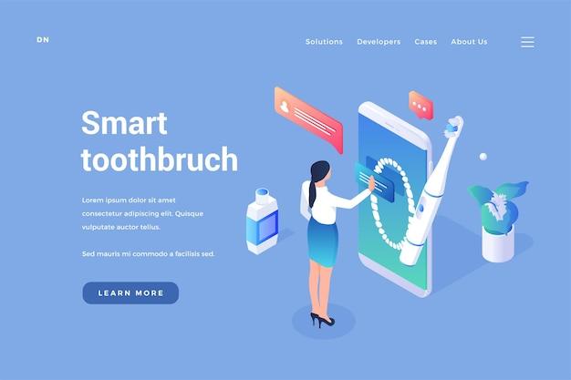 Dental smart zahnbürste digitale bürste mit zahnfleischmassage und steuerung über mobile anwendung