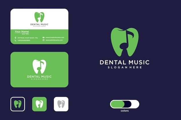 Dentalmusik-logo-design und visitenkarte