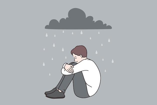 Depression und einsames konzept