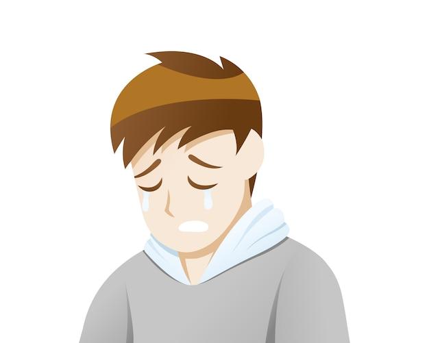 Depressionsgefühl der traurigkeit
