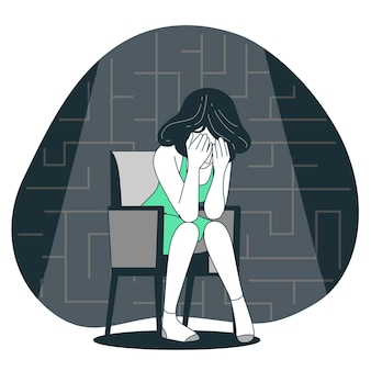Depressionskonzeptillustration