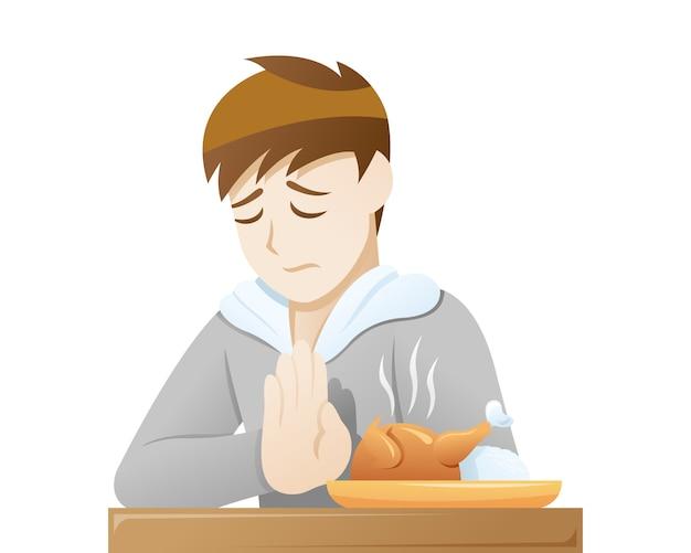 Depressionssymptome reduzierten den appetit
