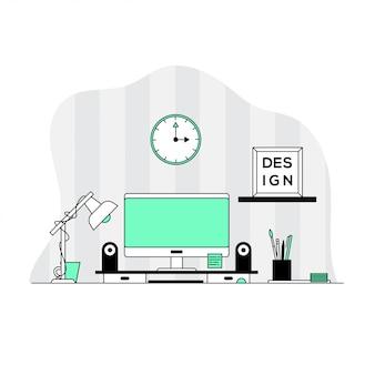 Der arbeitsplatz des designers