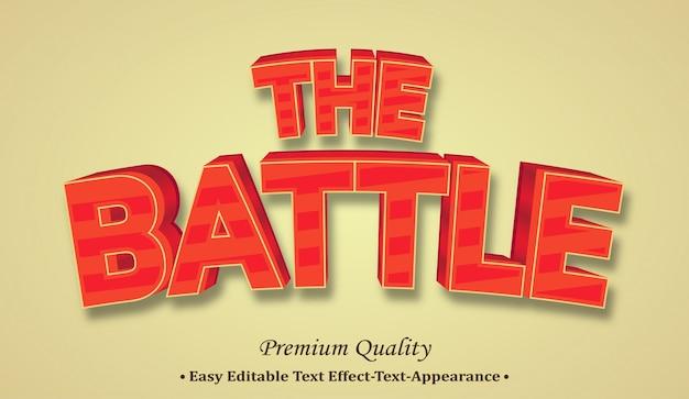 Der battle 3d-schriftstil-effekt