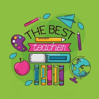 Der beste lehrer. glücklicher lehrertag