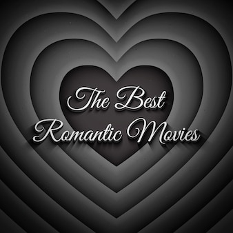 Der beste romantische film-weinlese-hintergrund