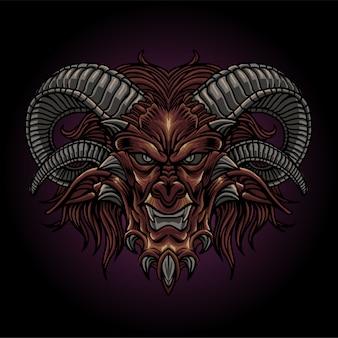 Der böse dämonenkopf