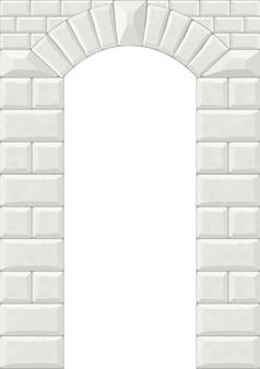 Der bogen aus weißem stein