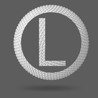 Der buchstabe l. polygonaler buchstabe. abstrakter kreativer konzeptvektorhintergrund. vektor-illustration eps 10 für ihr design.