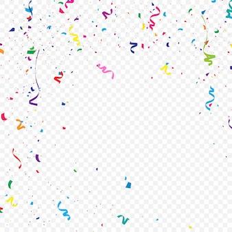 Der bunte konfettihintergrund, der fällt, vector illustration