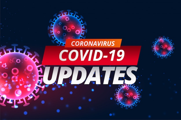 Der covid-19-koronavirus aktualisiert das design der nachrichtenbanner