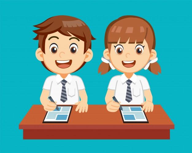 Der gebrauch, der moderne technologie für studenten lernt.