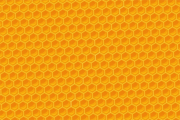 Der geometrische bienenwabenhintergrund.