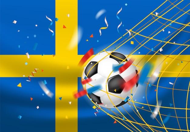 Der gewinner des spielkonzepts. schweden gewinnt