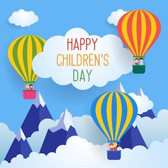Der glückliche Tag der Kinder für Kinderfeierplakat