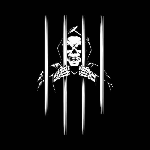 Der grimmige im gefängnis