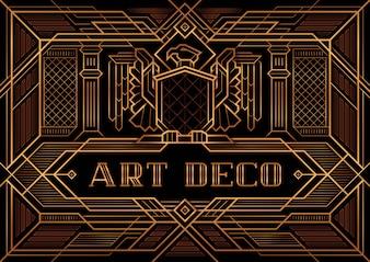 Der große Gatsby Deco Style-Vektor