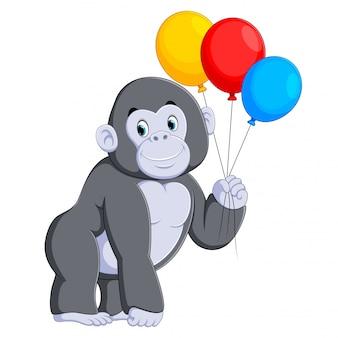 Der große graue gorilla