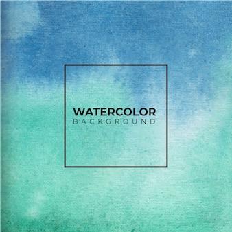 Der handgezeichnete blaue und grüne aquarellhintergrund der braunen farbe. aquarellpapier.