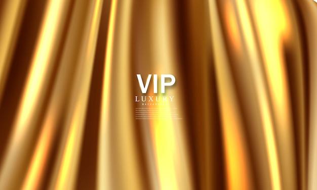 Der hintergrund ist ein goldener theatervorhang vip. abbildung im vektorformat.