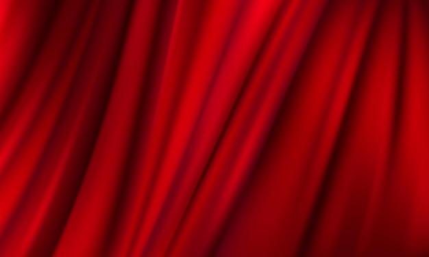Der hintergrund ist ein roter theatervorhang. abbildung im vektorformat.