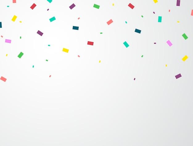 Der hintergrund wird mit konfetti gefeiert.