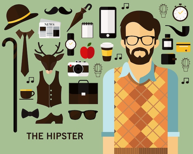 Der hipster-konzept-hintergrund