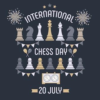 Der internationale schachttag wird jährlich am 20. juli gefeiert