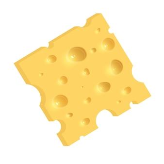 Der käse. abbildung isoliert