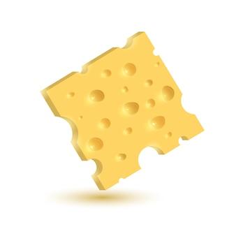 Der käse. illustration lokalisiert auf weißem hintergrund.