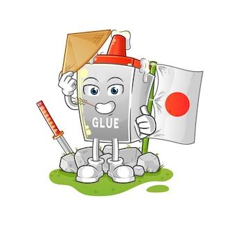 Der kleber japanisch. zeichentrickfigur