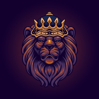 Der könig der löwenillustration
