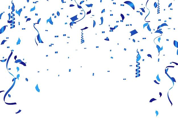 Der konfettihintergrund wird für feiern verwendet.