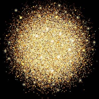 Der kreis aus gold funkelt, magisches leuchten hell