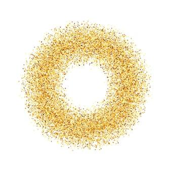 Der kreis aus goldenem sand. .