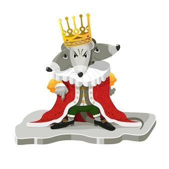 Der mäusekönig aus der weihnachtsgeschichte der nussknacker