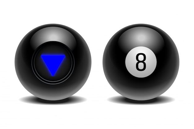 Der magische ball der vorhersagen für die entscheidungsfindung.