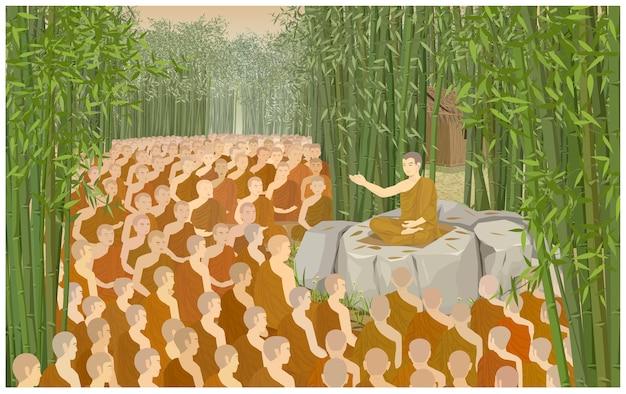 Der makha bucha day ist ein wichtiger tag für buddhisten.