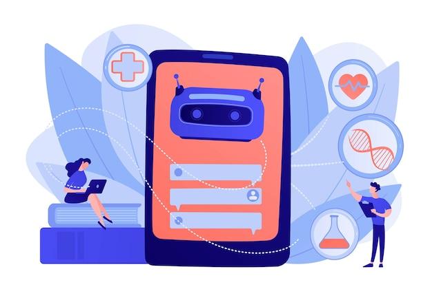 Der medizinische chatbot berät den patienten im gesundheitswesen