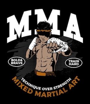 Der mixed martial art kämpfer