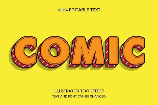 Der moderne schattenstil des komischen, bearbeitbaren texteffekts 3d
